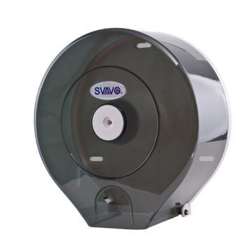 瑞沃 大卷纸架,V610 圆形 白色/茶色随机 可免打孔 单位:个