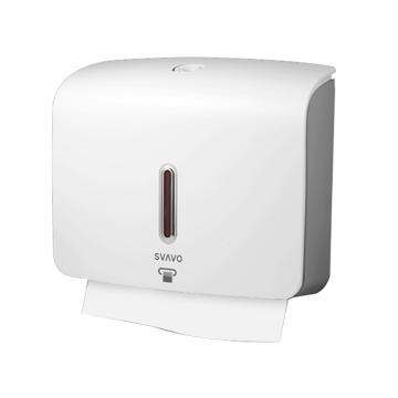 瑞沃 擦手纸架,PL151060 壁挂式可免打孔 白色 单位:个