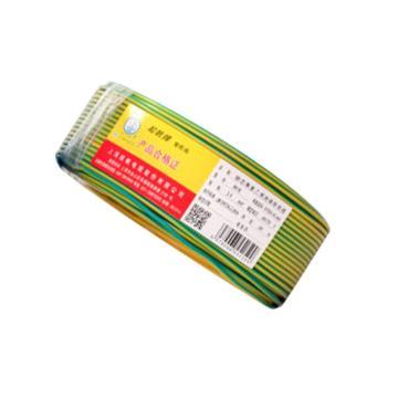 起帆 单芯铜芯软电线,RV-1*1mm²黄绿色,100米/卷