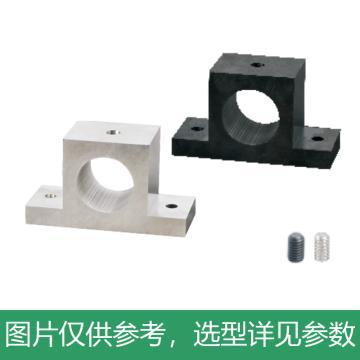 怡合达 T形导向轴支座,标准型,无定位孔/带定位孔,发黑,GCJ01-D3-H10