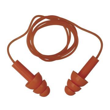 代尔塔DELTAPLUS 可重复使用耳塞,103113,CONICFIT010 圣诞树型硅胶材质 带线 盒装,10副/包
