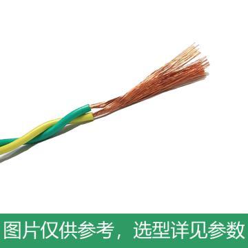 起帆 双绞线花线,RVS-2*1.5mm² 黄绿,100米/卷