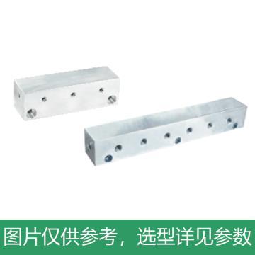 怡合达 气压用连接块,I形,端面贯穿,6孔,KAC01-6K-11