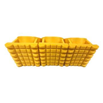 安赛瑞 树木支撑架固定器,PP,大号内径5.3cm,3个套杯,80cm绷带,黄色,包装:5个(包)