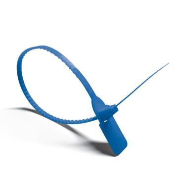 安赛瑞 塑料卡扣封条(100根装)蓝色,全长40cm(包),23481