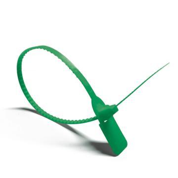 安赛瑞 塑料卡扣封条(100根装)绿色,全长40cm(包),23482
