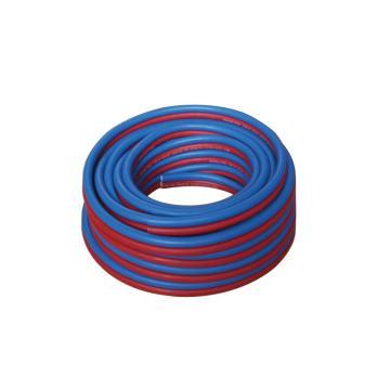 青岛国胜,国标乙炔氧气红蓝双管,管径8mm,耐压3Mpa,30米/卷