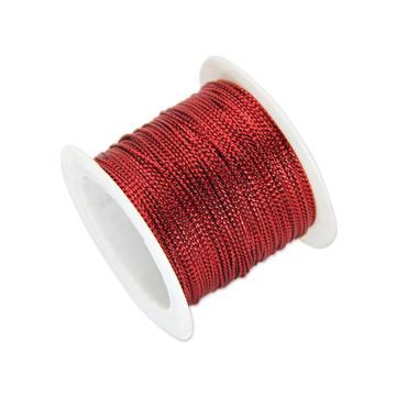 安赛瑞 12股金丝线,丝带,(宽×长):1mm×23m,红色(5卷装,包),25120