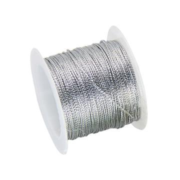 安赛瑞 12股金丝线,丝带,(宽×长):1mm×23m,银色(5卷装,包),25119