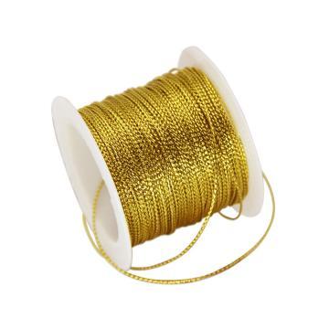 安赛瑞 12股金丝线,丝带,(宽×长):1mm×23m,金色(5卷装,包),25118