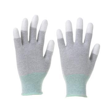 Raxwell 碳纤维织PU工作手套(指浸),13针,L码,RW2454,10副/包