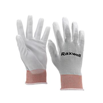Raxwell 尼龙针织PU工作手套(掌浸),13针,L码,RW2442,10副/包