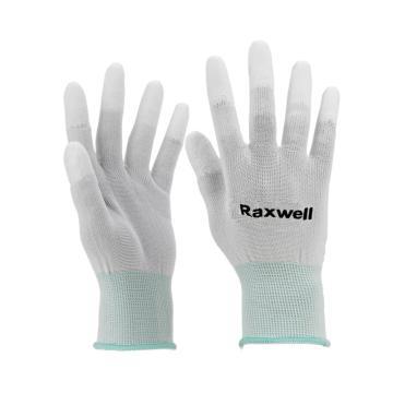 Raxwell 涤纶针织PU工作手套 (指浸),13针,L码,RW2438,10副/包