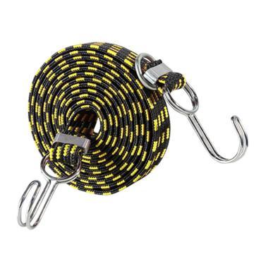 安赛瑞 多用途弹力绳捆绑绳,3cm×2m,黄黑(条),25079