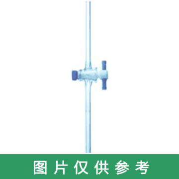 SYSBERY,四氟直孔节门,塞孔径 5#,直路管外径8MM 总长度22cm ,PTFE活塞,高硼硅玻璃,10只/盒