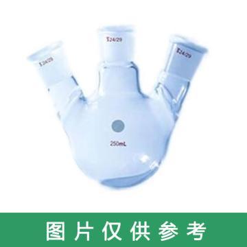 SYSBERY,三口烧瓶(斜口),100ml/24*3 (容量/接口尺寸),斜口,高硼硅玻璃,10只/盒