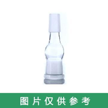 SYSBERY,转接头(接口),口小塞大 24/29,透明,高硼硅3.3,10只/盒