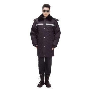 多盾 冬季加长款保安棉服,反光条款,190