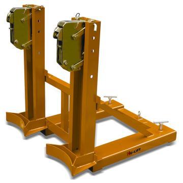 虎力 油桶搬运夹,叼扣式叉车专用720kg(双筒/钢桶),DG720A