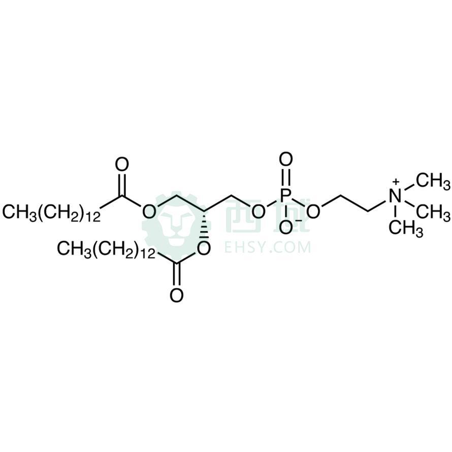 CAS:18194-24-6,1,2-二肉豆蔻酰-sn-甘油-3-磷酰胆碱,>97.0%(HPLC)(T),200MG|冷冻