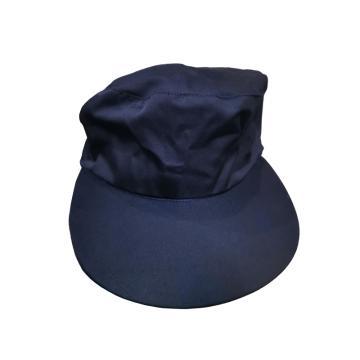 安防 工作帽,65/35,藏青色 全棉春秋工作帽