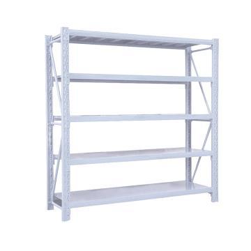 Raxwell 层板货架主架,5层,200kg,尺寸(长×宽×高mm):2000×600×2000,灰白色,安装费另询