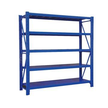 Raxwell 层板货架主架,5层,200kg,尺寸(长×宽×高mm):1500×500×2000,蓝色,安装费另询