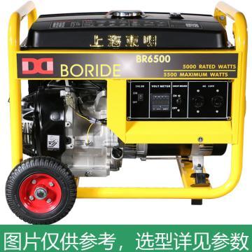 上海东明 单相汽油发电机,5kW,BR6500E,电启动,含电瓶