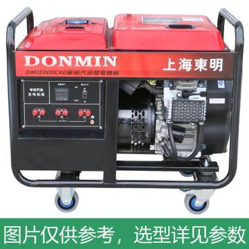 上海东明 开架式单相汽油发电机组,10kW,DM12000CXD,电启动,含电瓶