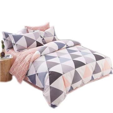 四件套,彩格,被套尺寸160x210cm 床单160x230cm 枕套48x74一对,适用1.2米床