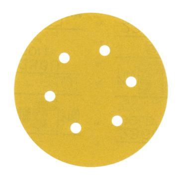 3M216U背绒圆砂纸,180#,5寸5孔, 100张/盒