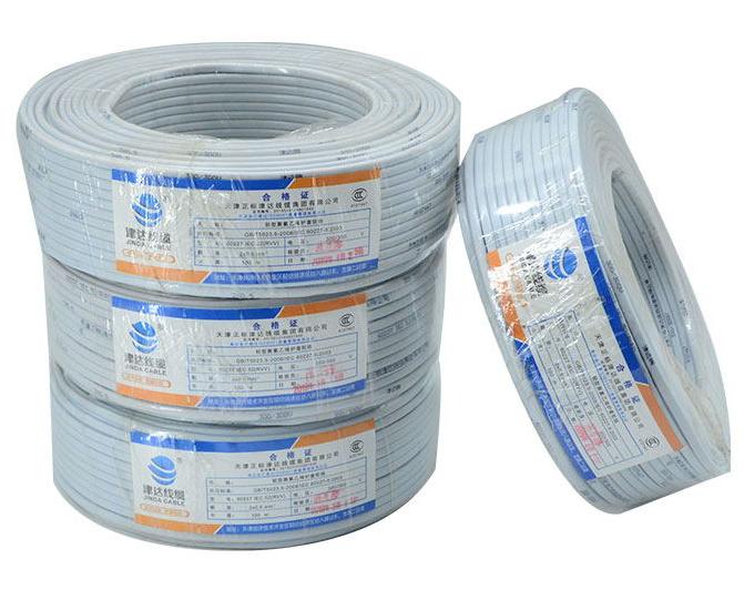 津达 白色护套线,2*1.5 100米/卷