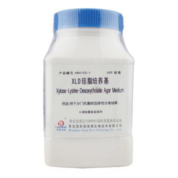 海博生物 XLD琼脂培养基(USP)(Xylose-Lysine-Desoxycholate Agar),250g,