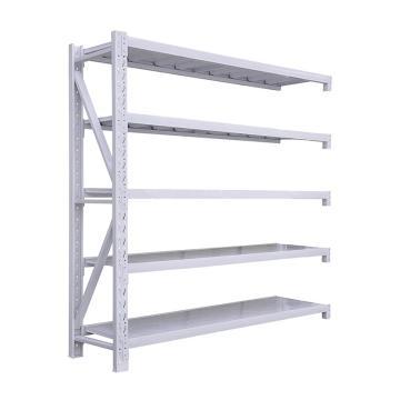 Raxwell 层板货架副架,5层,300kg,尺寸(长×宽×高mm):2000×600×2000,灰白色,安装费另询
