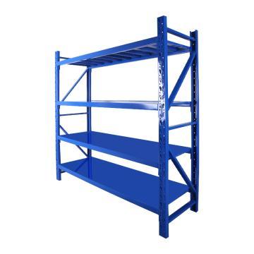 Raxwell 层板货架主架,4层,500kg,尺寸(长×宽×高mm):1800×500×2000,蓝色,安装费另询