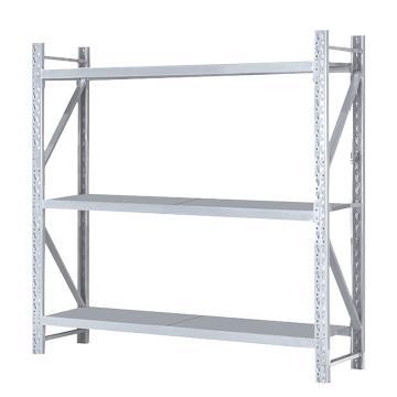 Raxwell 层板货架主架,3层,500kg,尺寸(长×宽×高mm):2000×500×2000,灰白色,安装费另询