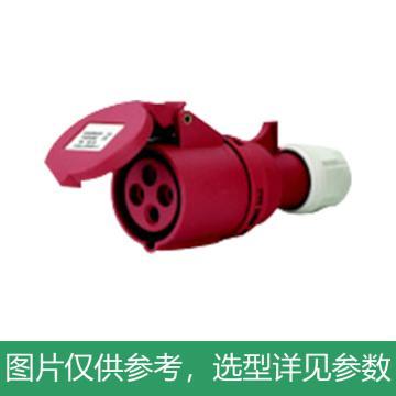 德力西DELIXI 工业连接器 DEP2-214,DHADEP2214R,16A 4芯 415V