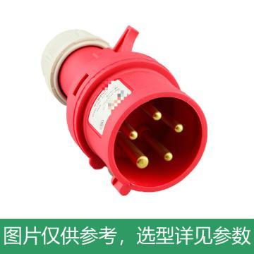 德力西DELIXI 工业插头 DEP2-015,DHADEP2015R,16A 5芯 415V