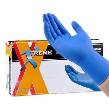 爱马斯AMMEX 一次性丁腈手套,麻面蓝色,XNFT42100,小号,100只/盒