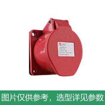 德力西DELIXI DEP2-315 16A 5芯 415V工业用暗装插座,DHADEP2315R