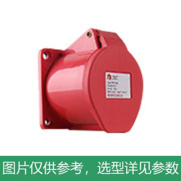 德力西DELIXI DEP2-324 32A 4芯 415V工业用暗装插座,DHADEP2324R