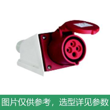 德力西DELIXI 工业明装插座 DEP2-124,DHADEP2124R,32A 4芯 415V