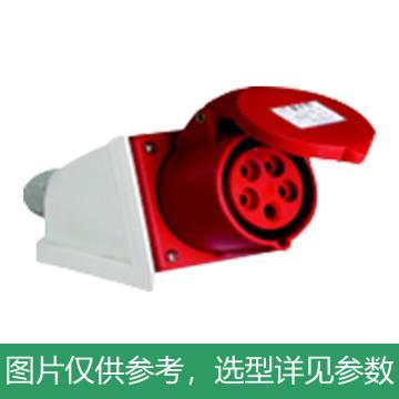德力西DELIXI 工业明装插座 DEP2-115,DHADEP2115R,16A 5芯 415V