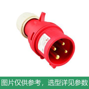 德力西DELIXI 工业插头 DEP2-024,DHADEP2024R,32A 4芯 415V