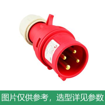 德力西DELIXI 工业插头 DEP2-014,DHADEP2014R,16A 4芯 415V