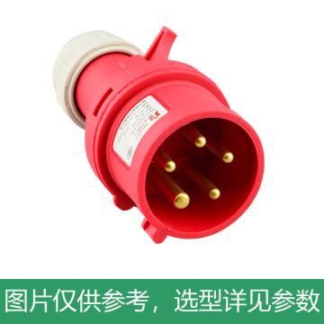 德力西DELIXI 5芯32A三相航空插头 IP44防尘防水工业插头,DHADEP2025R
