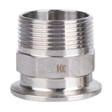 西域推荐 不锈钢304快装六角外丝|DN25|P0205.25