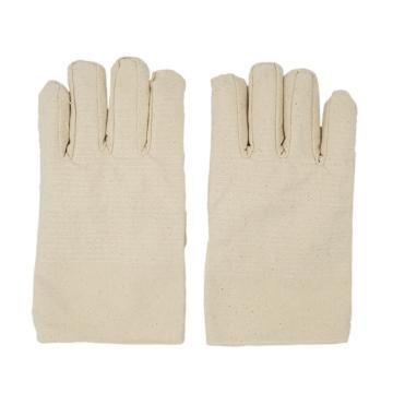 Raxwell 32道线全衬帆布手套(扣指),4*4纯棉,10副/袋,RW2203