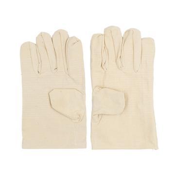 Raxwell 32道线全衬帆布手套(扣指),2*2棉布,10副/袋,RW2202