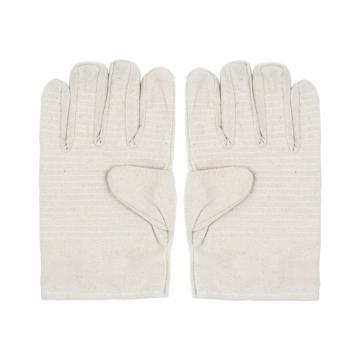 Raxwell 24道线全衬帆布手套(接指),白甲布,10副/袋,RW2201